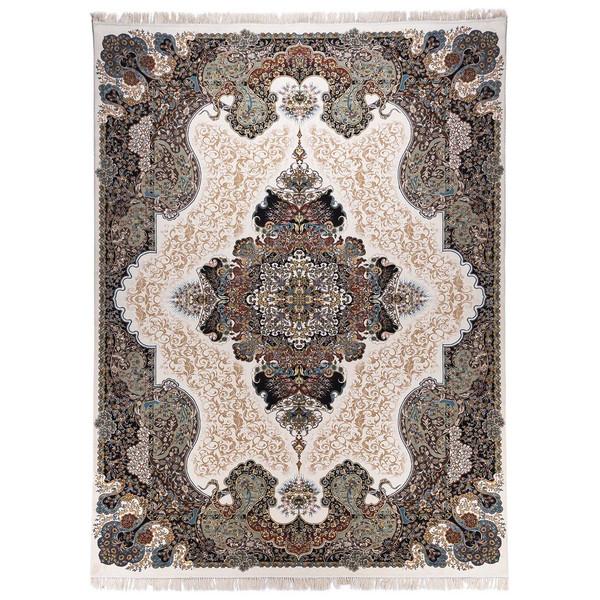 فرش ماشینی آدینا طرح الی زمینه کرم
