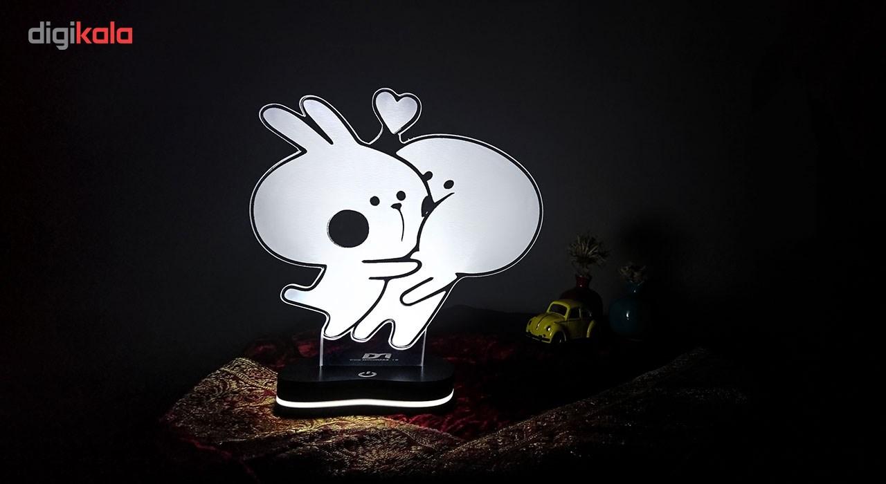 چراغ خواب سه بعدی گالری دکوماس طرح خرگوش بازیگوش و کله گردالی 3 کد DMS128