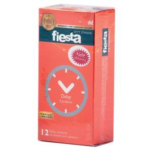 کاندوم تاخیری فیستا مدل Delay بسته 12 عددی