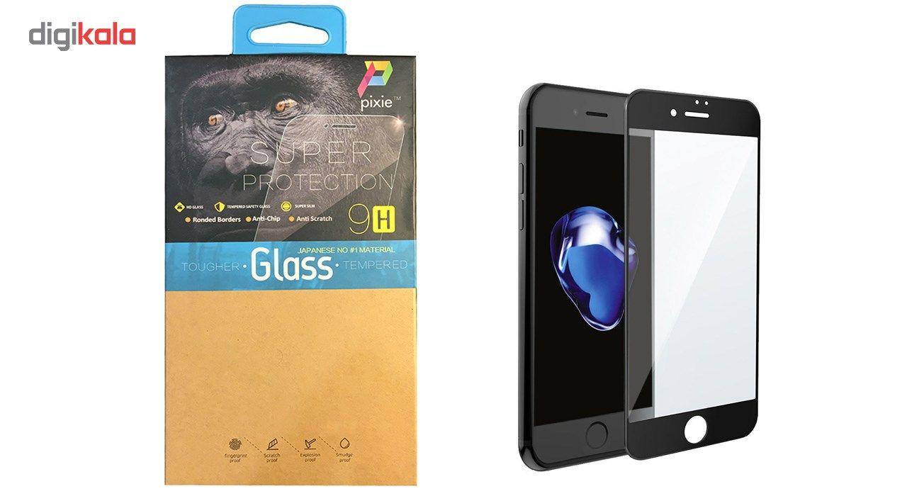 محافظ صفحه نمایش  تمام چسب شیشه ای پیکسی مدل 5D  مناسب برای گوشی اپل آیفون 6/6s پلاس main 1 1