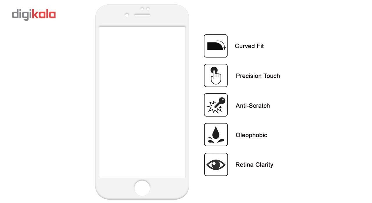 محافظ صفحه نمایش  تمام چسب شیشه ای پیکسی مدل 5D  مناسب برای گوشی اپل آیفون 6/6s پلاس main 1 4