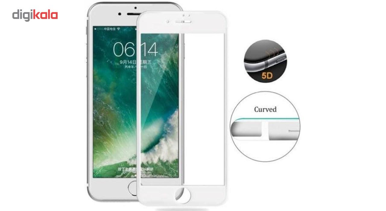 محافظ صفحه نمایش  تمام چسب شیشه ای پیکسی مدل 5D  مناسب برای گوشی اپل آیفون 6/6s پلاس main 1 8