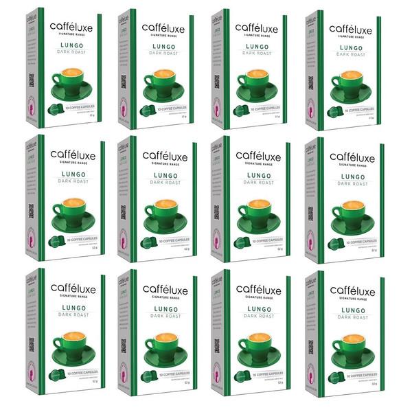 کپسول قهوه دستگاه نسپرسو کافه لوکس مدل  Dark Roast Lungo-مجموعه  12 جعبه