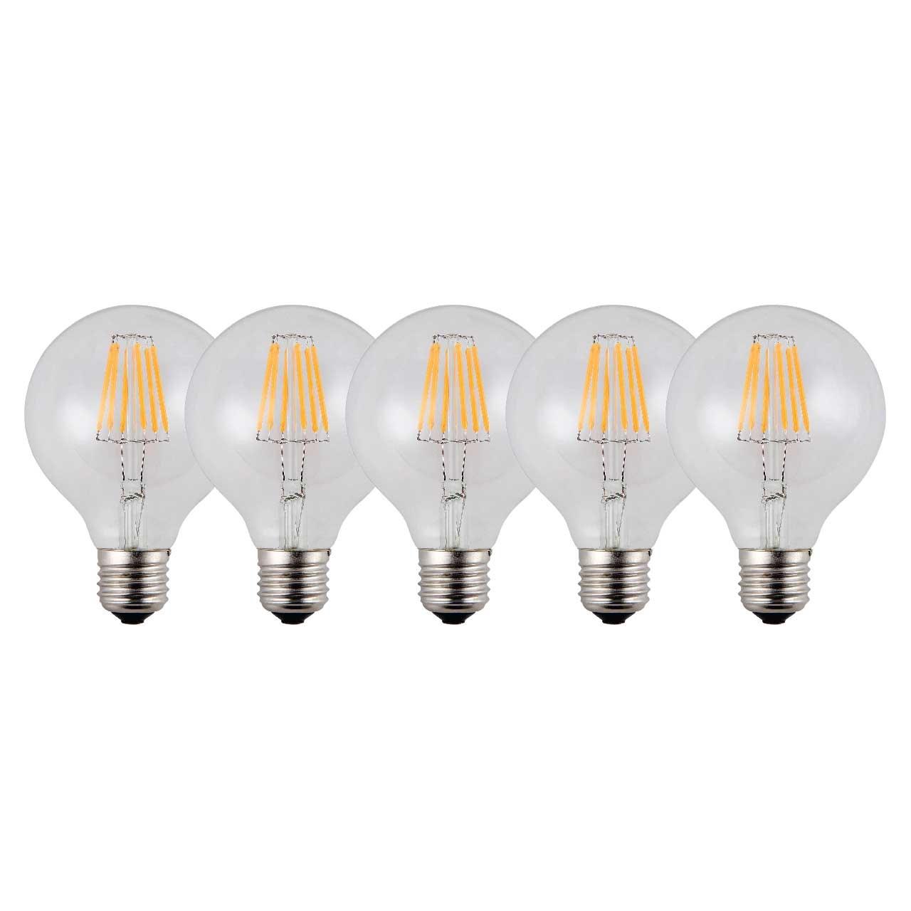 لامپ ال ای دی فیلامنتی 6 وات تکنوتل مدل 606 پایه E27 بسته 5 عددی