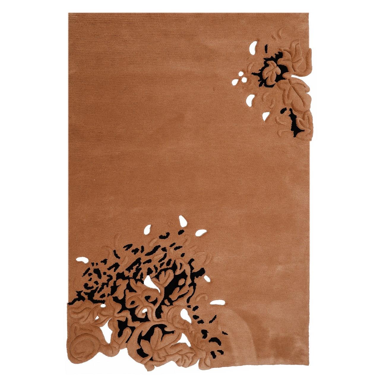 فرش بهتافت نیمه دستبافت طرح فانتزی 2350 با الیاف طبیعی سایز 150x225