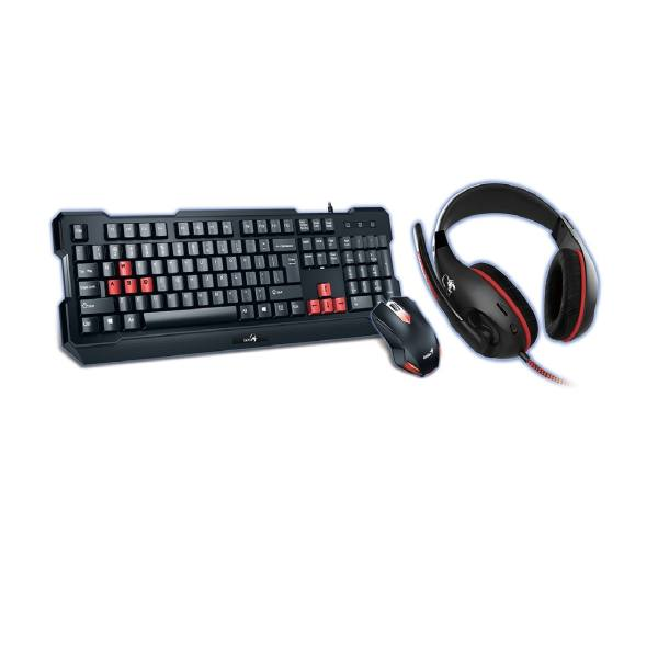 کیبورد و موس  جنیوس مدل kmh-200 به همراه  هدست | Genius Scorpion-KMH200 Wired Keyboard and Mouse and Headset