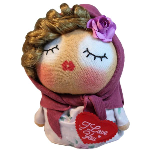 عروسک دست دوز گالری روهام مدل دختر خانم کد 905
