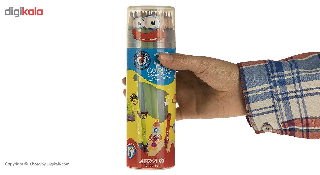 مداد رنگی 36 رنگ آریا مدل 3053 main 1 5