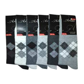 جوراب مردانه آرین کد 5 مجموعه ۶ عددی