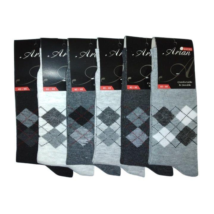 جوراب مردانه آرین کد 5 مجموعه ۶ عددی -  - 2