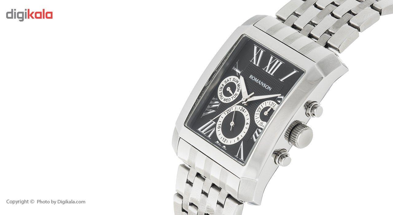 ساعت مچی عقربه ای مردانه رومانسون مدل TM0342BM1WA32W -  - 4