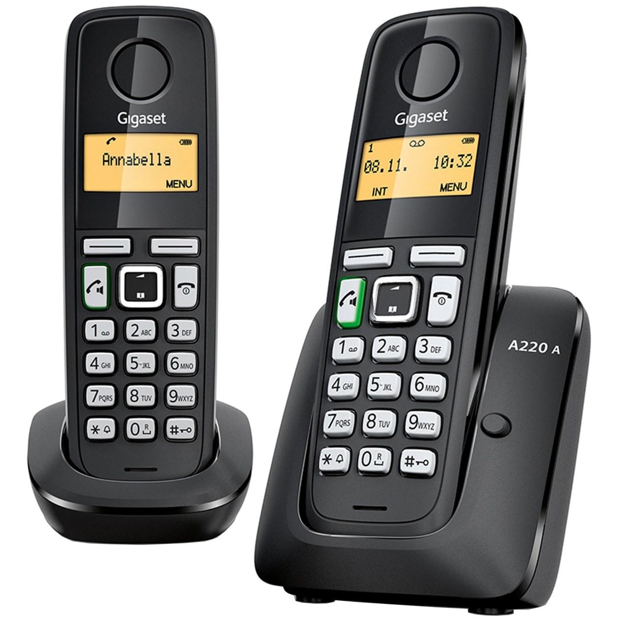 خرید اینترنتی تلفن بی سیم منشی دار گیگاست مدل A220A Duo