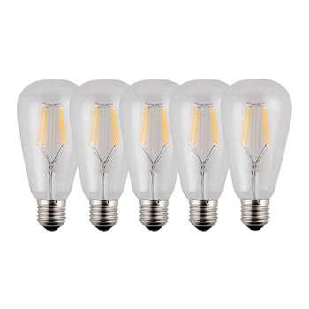 لامپ ال ای دی فیلامنتی 4 وات تکنوتل مدل 604 پایه E27 بسته 5 عددی