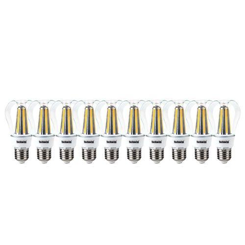 لامپ ال ای دی فیلامنتی 8 وات تکنوتل مدل 308 پایه E27 بسته 10 عددی