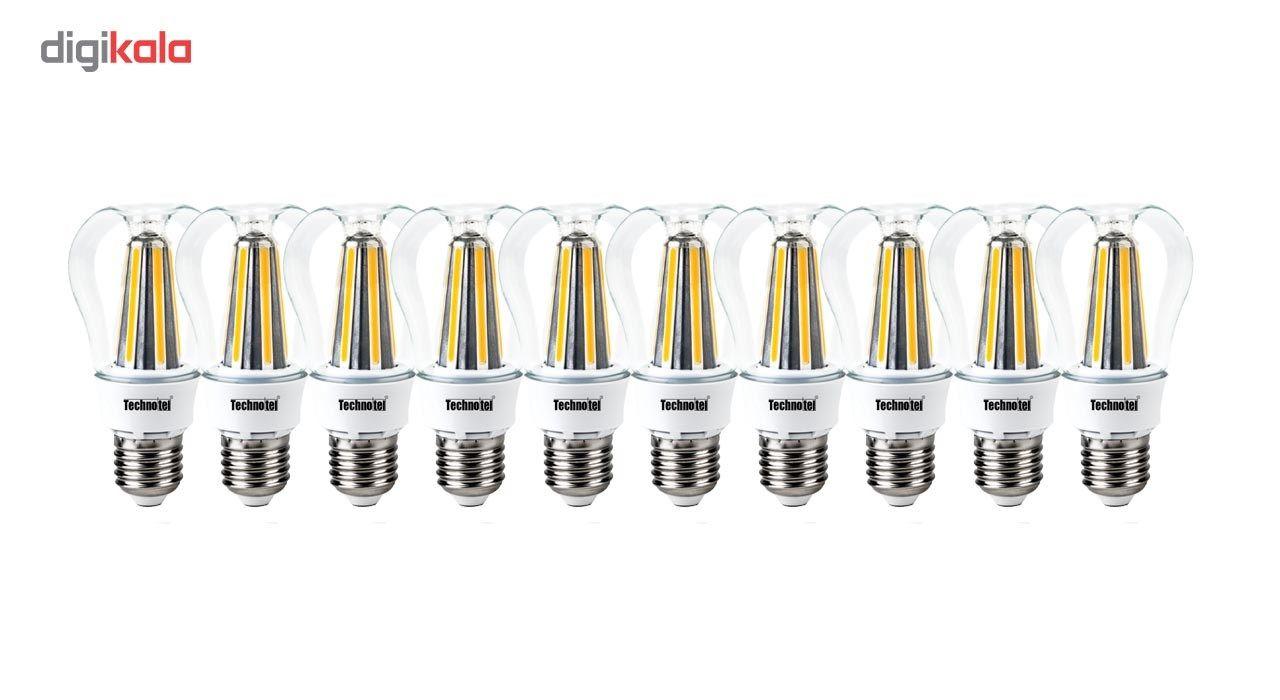 لامپ ال ای دی فیلامنتی 8 وات تکنوتل مدل 308 پایه E27 بسته 10 عددی main 1 1