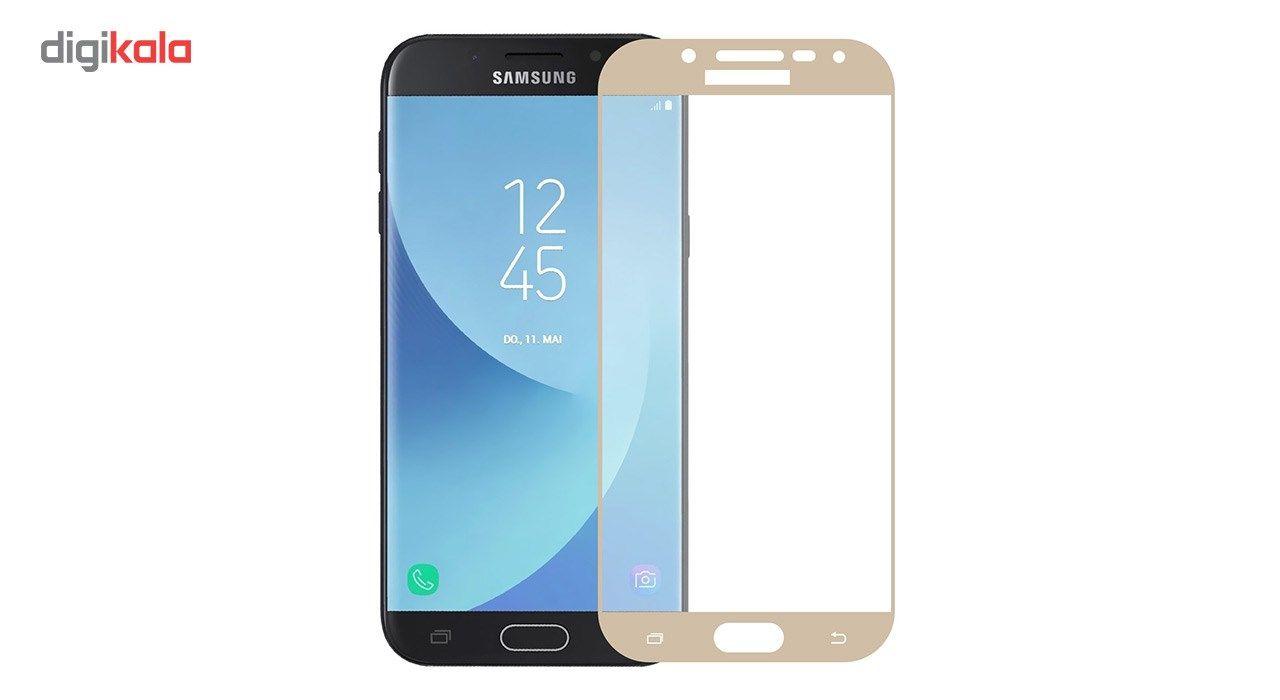 محافظ صفحه نمایش شیشه ای تمپرد مدل Full Cover مناسب برای گوشی موبایل سامسونگ Galaxy J5 Pro main 1 2