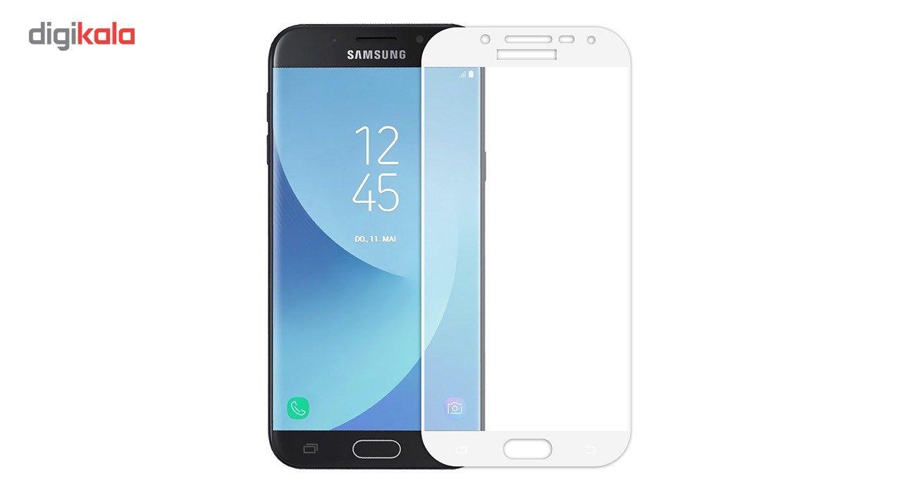 محافظ صفحه نمایش شیشه ای تمپرد مدل Full Cover مناسب برای گوشی موبایل سامسونگ Galaxy J5 Pro main 1 3