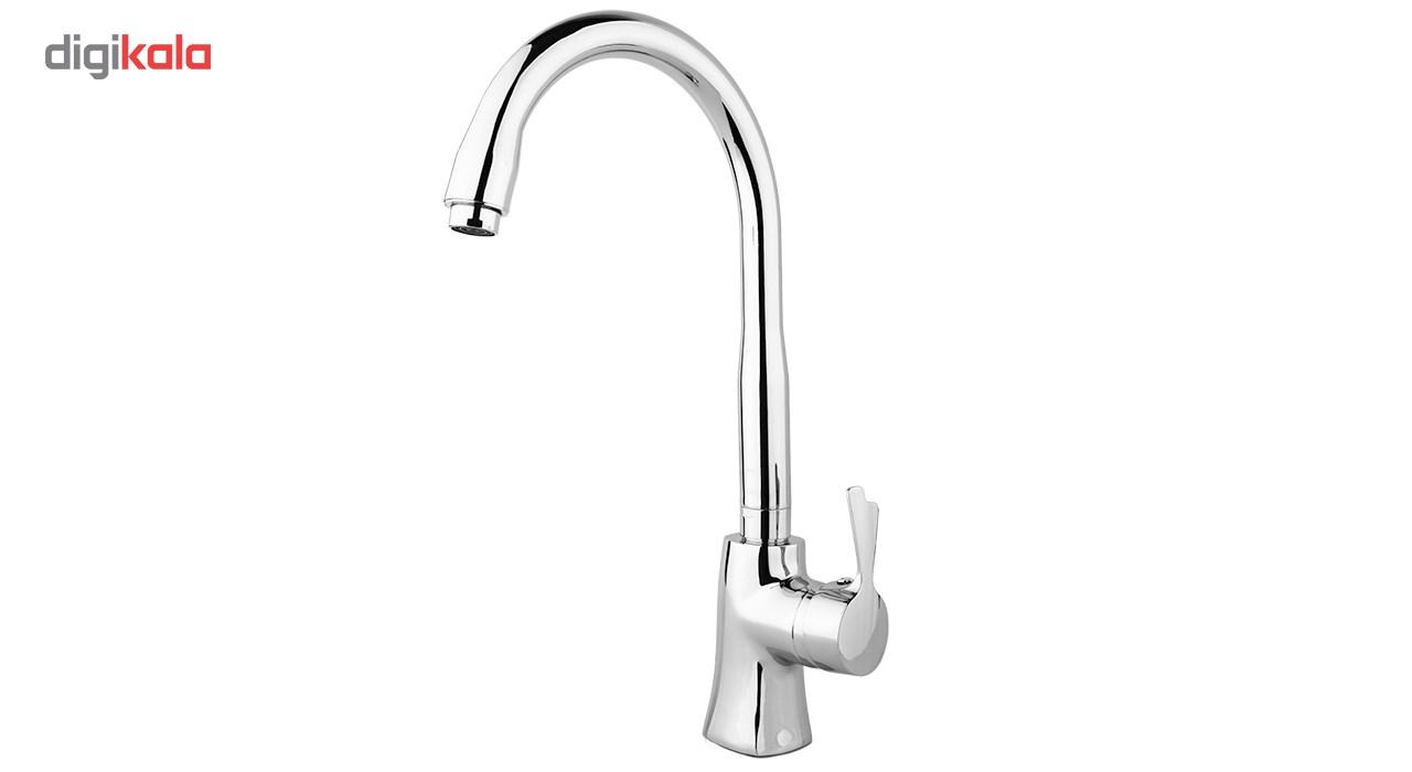 شیر آشپزخانه راسان مدل پاپیون کروم Rassan Papion Chrome Kitchen Faucets