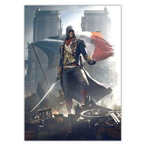 تابلو شاسی ونسونی طرح Assassins Creed Unity سایز 40 × 30