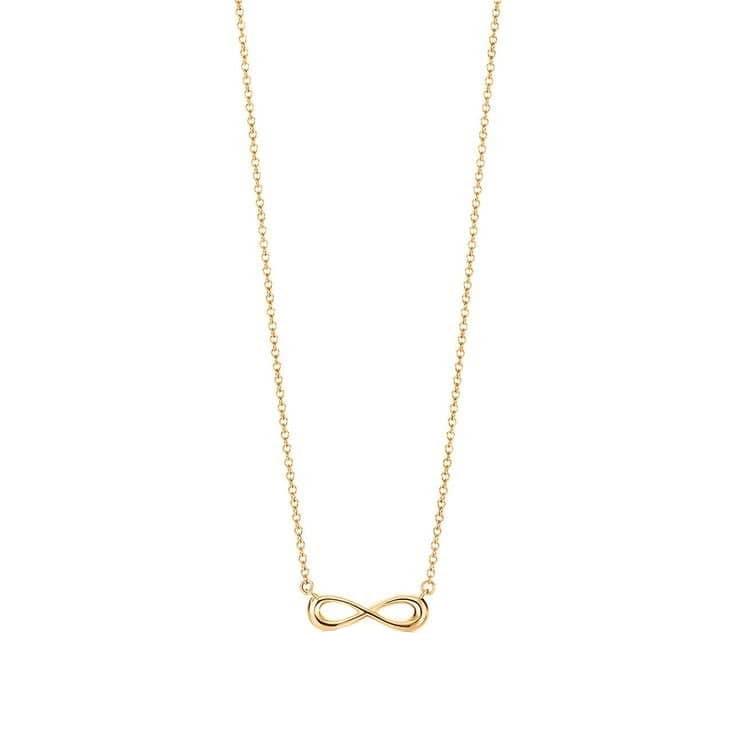 آویز گردنبند طلا 18 عیار زنانه قیراط طرح بی نهایت کد GH56
