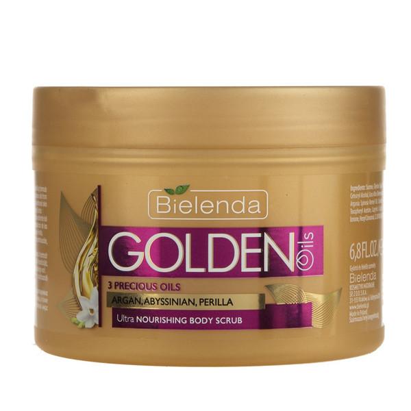 اسکراب بدن بی یلندا سری Golden Oils مقدار 200 گرم