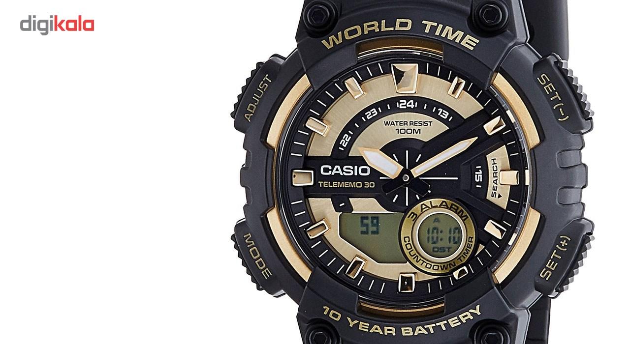 ساعت مچی عقربه ای مردانه کاسیو مدل AEQ-110BW-9AVDF