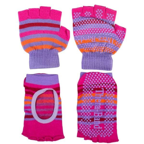 ست دستکش و پاپوش پیلاتس و یوگا ترابند مدل انگشتی