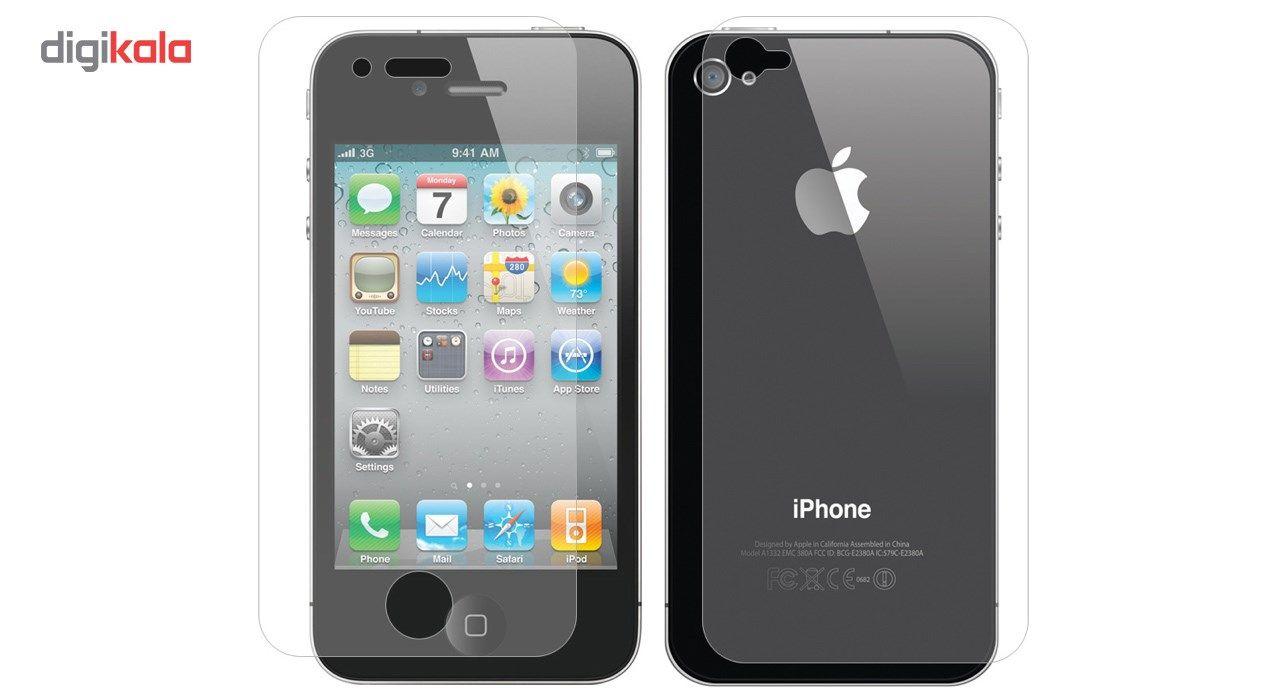 محافظ پشت و صفحه نمایش شیشه ای تمپرد مناسب برای گوشی موبایل اپل آیفون 4 / 4s main 1 1