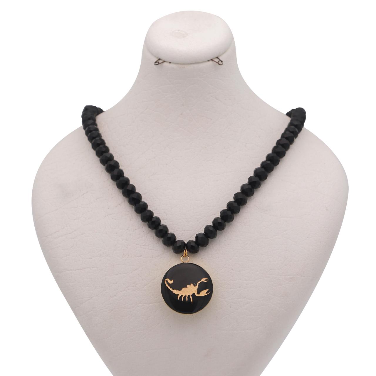 گردنبند طلا 24 عیار زنانه طرح ماه آبان کد 1260