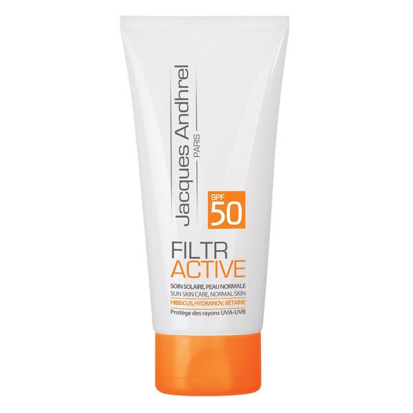 کرم ضد آفتاب بدون رنگ ژاک آندرل پاریس مخصوص پوست خشک و معمولی مدل FILTR ACTIVE  SPF 50حجم 50 میلی لیتر