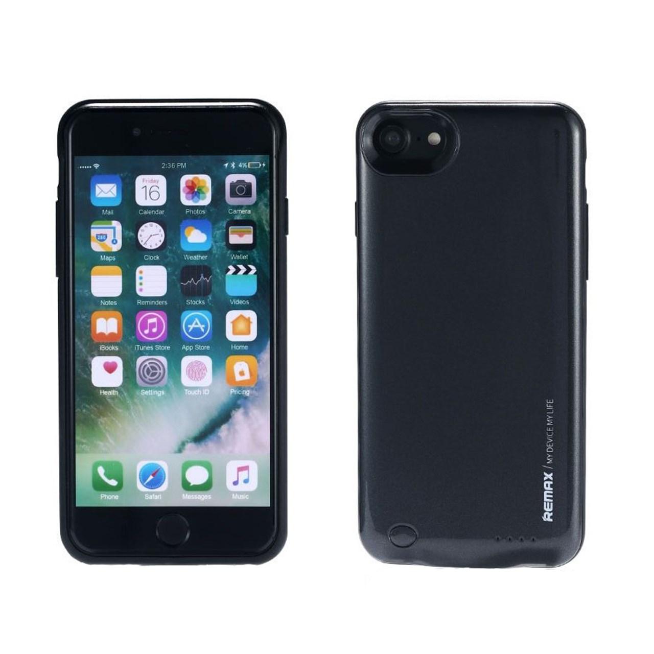 عکس کاور شارژ ریمکس مدل Energy Jacket ظرفیت 2400 میلی آمپر ساعت مناسب برای گوشی موبایل اپل iPhone 7