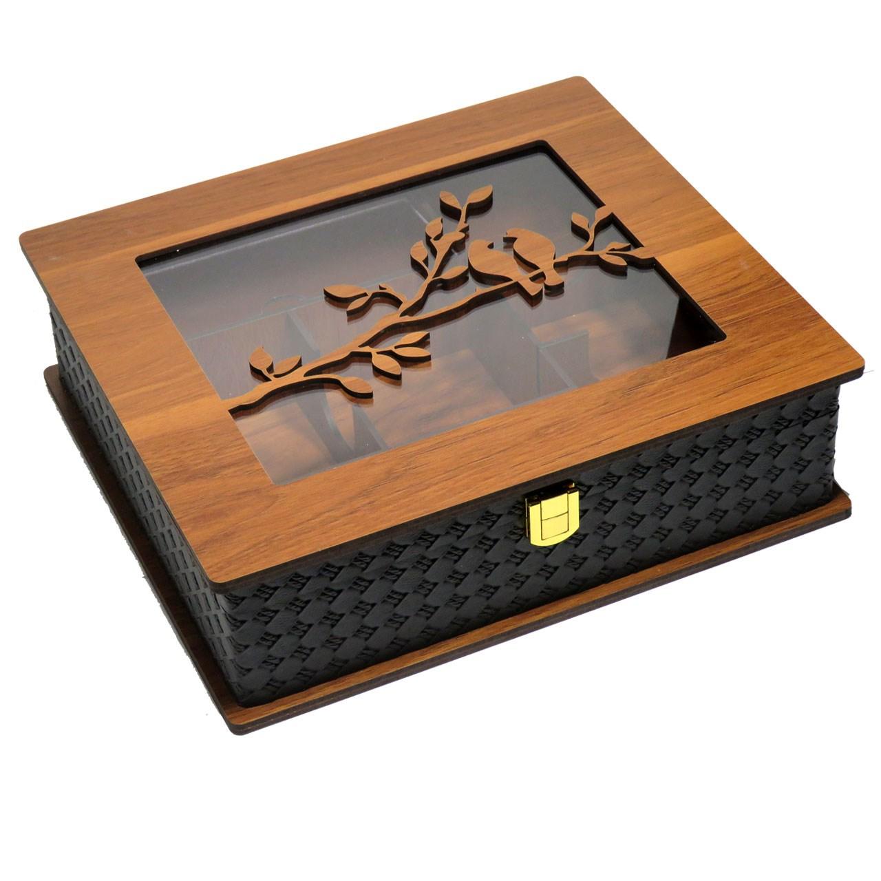 جعبه چایی کیسه ای لوکس باکس  کد LB56