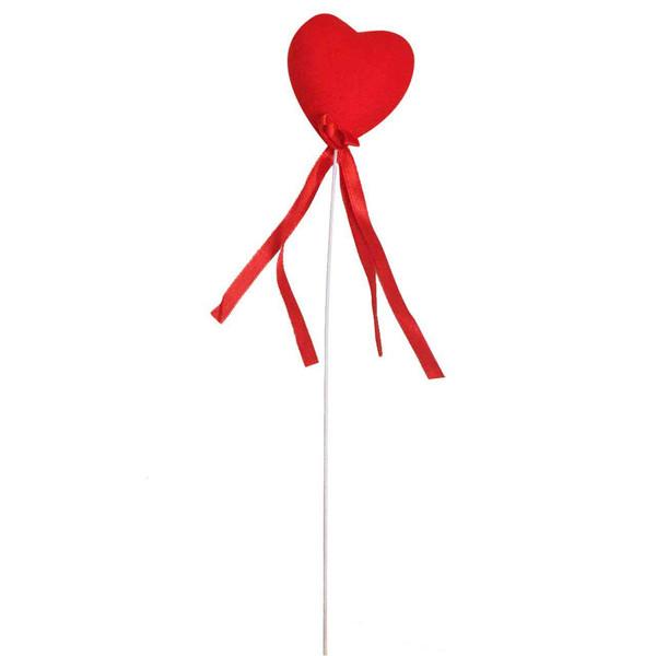 قلب مخمل قرمز  مدل پایه دار