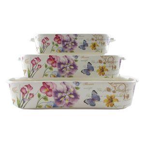 ظروف پخت و پز آرورا سری Floral کد 106بسته 3 عددی