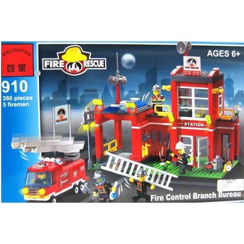 لگو آتش نشانی انلایتن مدل 910 تعداد380  قطعه