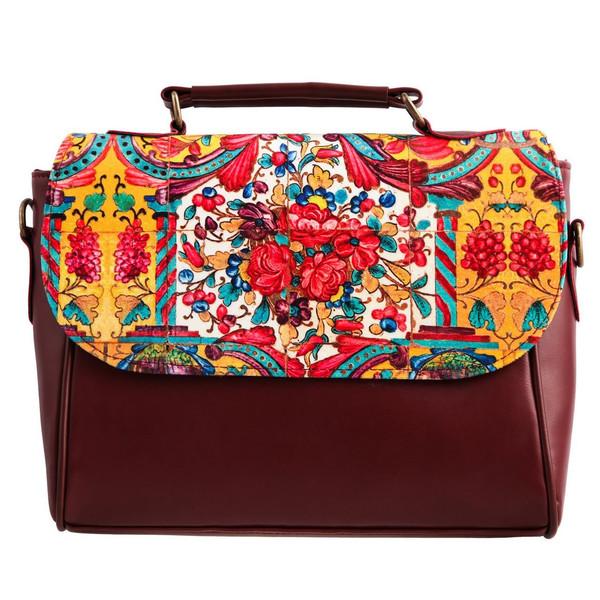 کیف دوشی زنانه گالری وستای مدل کاشی هفت رنگ کد 91039