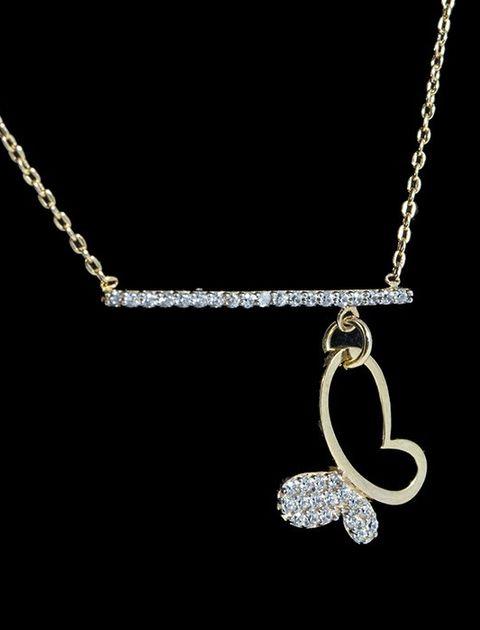گردنبند طلا 18 عیار ماهک مدل MM0670 -  - 3