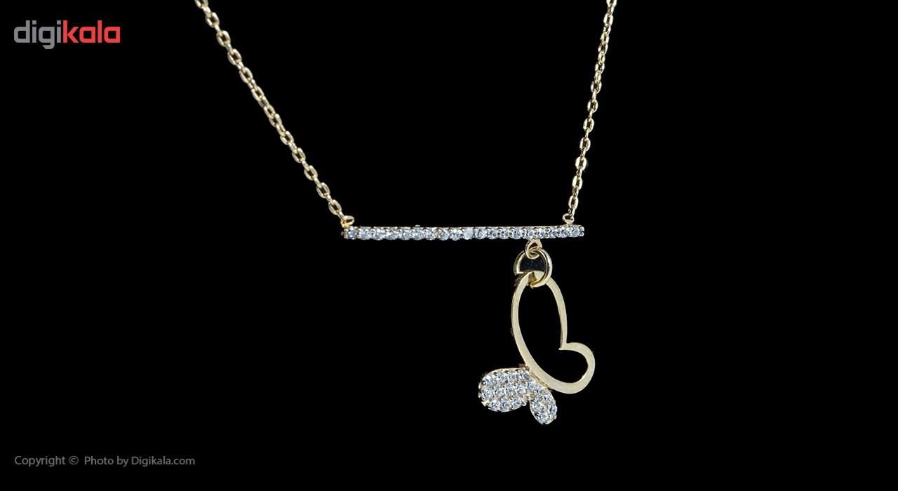گردنبند طلا 18 عیار ماهک مدل MM0670 - مایا ماهک -  - 3