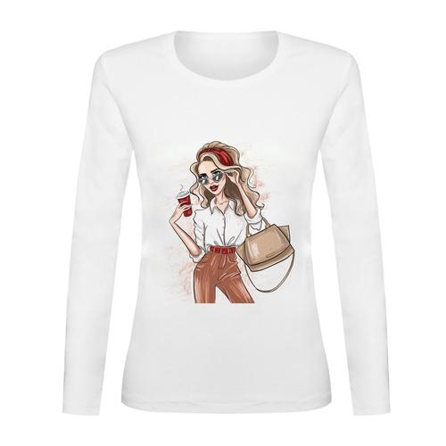 تی شرت آستین بلند زنانه کد TAB01-299