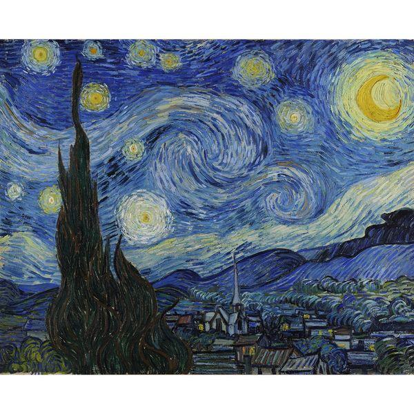 تابلو شاسی گالری هنری پیکاسو طرح شب پرستاره سایز 30x40 سانتی متر