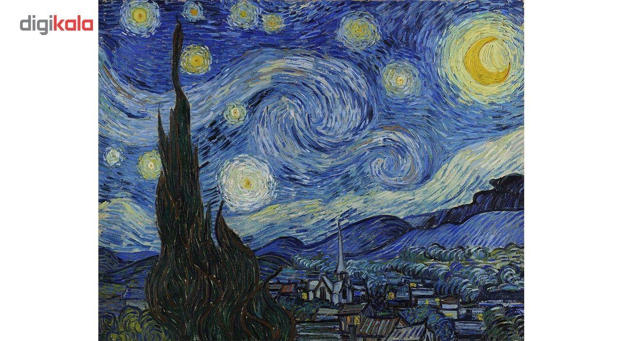 تابلو شاسی گالری هنری پیکاسو طرح شب پرستاره سایز 30x40 سانتی متر main 1 1