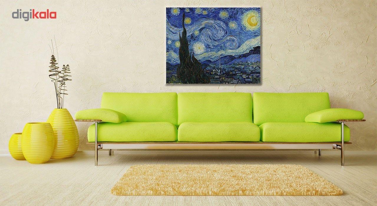 تابلو شاسی گالری هنری پیکاسو طرح شب پرستاره سایز 30x40 سانتی متر main 1 2