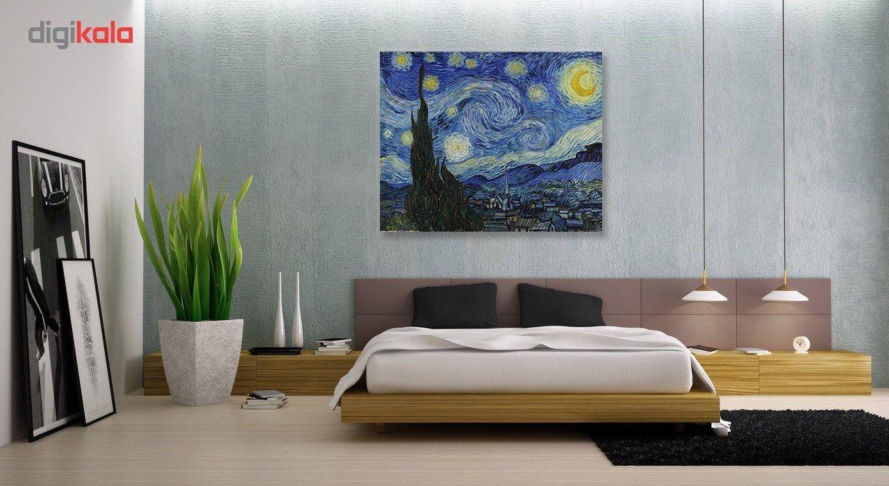 تابلو شاسی گالری هنری پیکاسو طرح شب پرستاره سایز 30x40 سانتی متر main 1 3