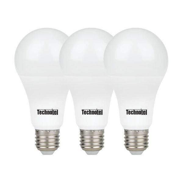 لامپ ال ای دی 15 وات تکنوتل مدل 315 پایه E27 بسته 3 عددی