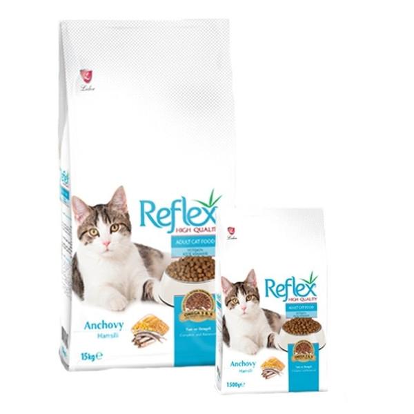 غذای خشک گربه رفلکس مدل Anchovy وزن 15 کیلوگرم
