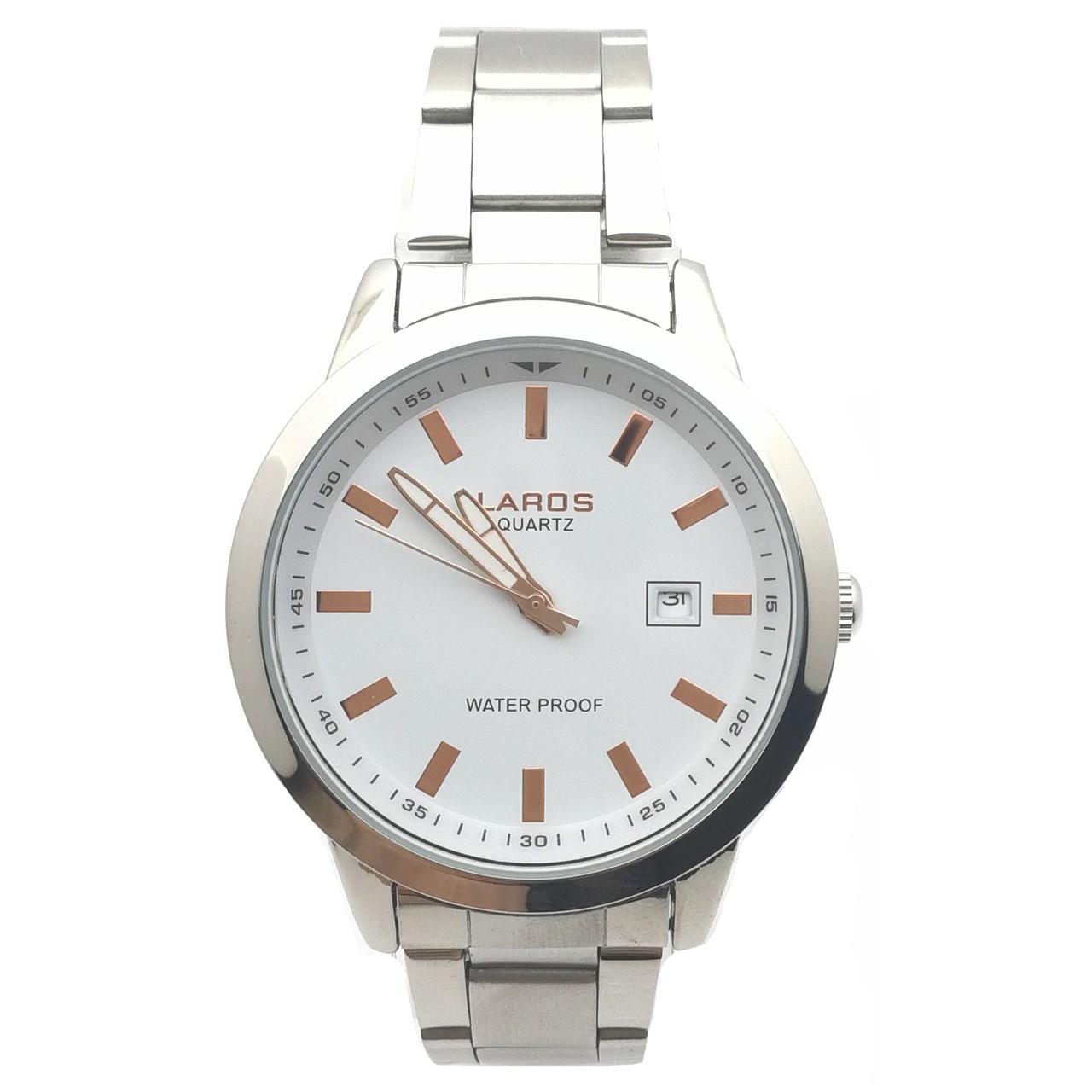 قیمت و خرید                      ساعت مچی عقربه ای مردانه لاروس مدل LM-N375-Rosegold