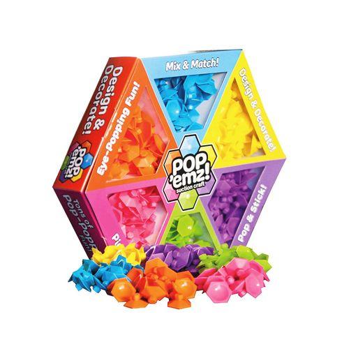بازی ساختنی چسبونک های رنگی مدل pop emz