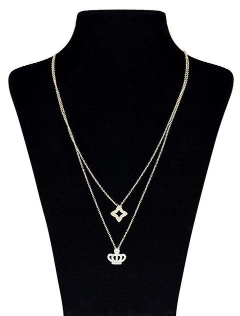 گردنبند طلا 18 عیار ماهک مدل MM0673 -  - 2