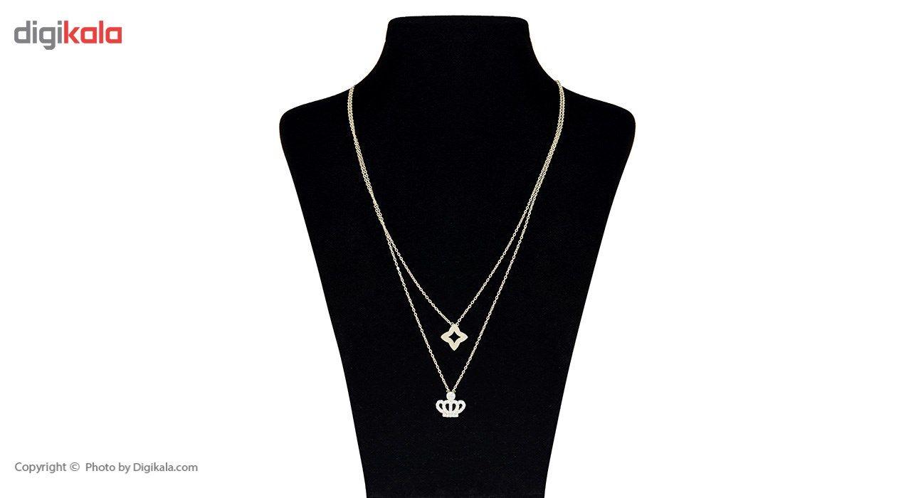 گردنبند طلا 18 عیار ماهک مدل MM0673 - مایا ماهک -  - 2