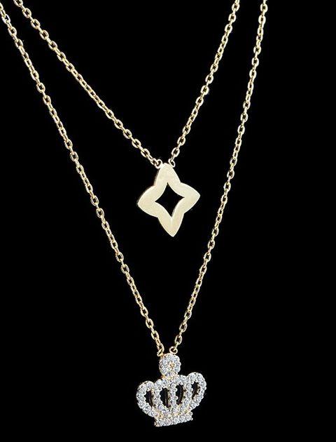 گردنبند طلا 18 عیار ماهک مدل MM0673 -  - 3